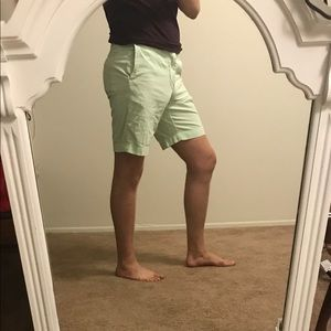 Sea-foam green J. Crew men's shorts